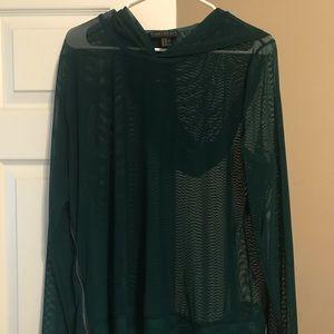 Forever 21 Sweaters - Green Mesh sweatshirt/Hoodie